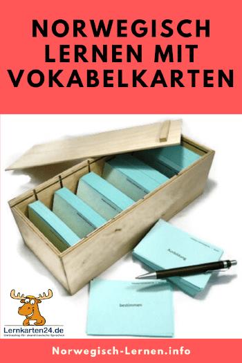 Norwegisch lernen mit Vokabelkarten pinterest