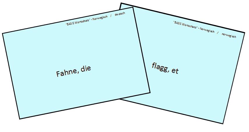 Vokabelkartenbeispiel
