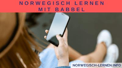 Norwegisch lernen mit Babbel