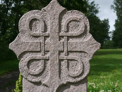 Pilgerzeichen auf dem Olavsweg in Norwegen