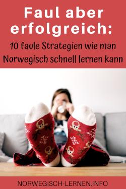 Faul aber erfolgreich 10 faule Strategien wie man Norwegisch schnell lernen kann pinterest